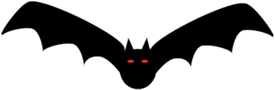 Halloween graphics for Animated flying bat decoration